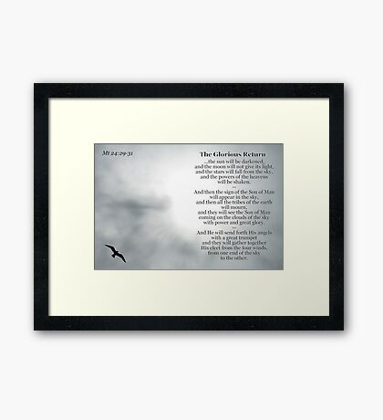The Glorious Return Framed Print