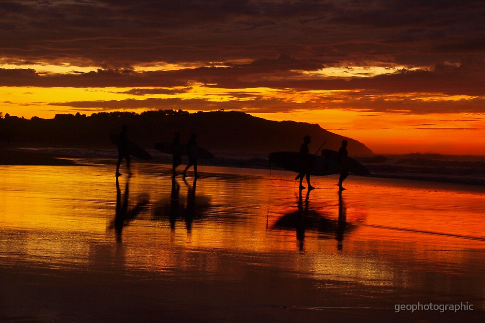 Surfer reflections by geophotographic