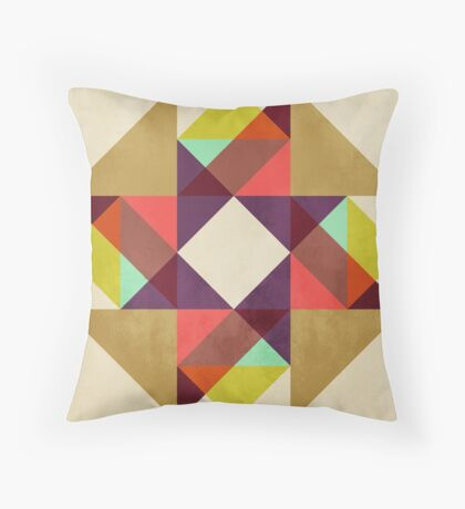 Quilt Block #02 Throw Pillow