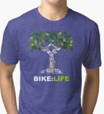 BIKE:LIFE in white Tri-blend T-Shirt