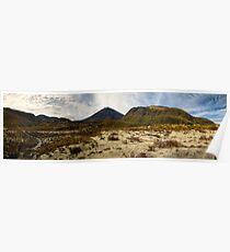 Mt Ngauruhoe pano Poster