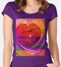 Love gives you wings Women's Fitted Scoop T-Shirt