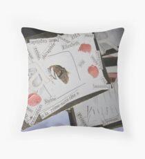 ACEO - Fanfare for E -  Throw Pillow