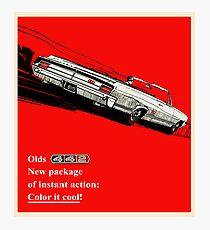 Oldsmobile 442 vintage advertisement Photographic Print