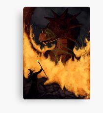 Dragon & Wizard  Canvas Print