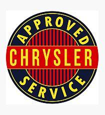 Chrysler Approved Service vintage sign Flat version Photographic Print