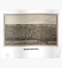 Panoramic Maps Cleveland Ohio Poster