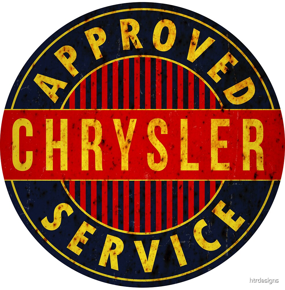 Chrysler Approved Service vintage sign Rusted version by htrdesigns