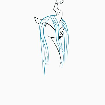 Queen Chrysalis Outline by LcPsycho