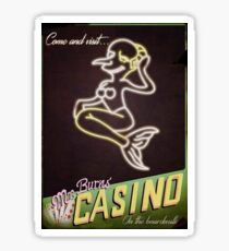 Burns' Casino Sticker