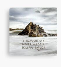 Ein glattes Meer Metallbild