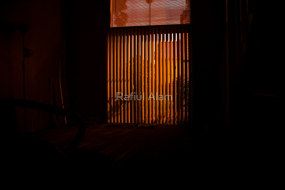 Light through the blinds by Rafiul Alam