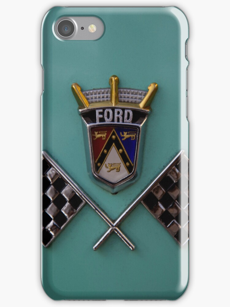 iPhone Case Classic Ford Checkered Flags by Adrian Evans