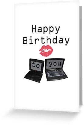 Computer happy birthday card greeting cards by dawnsky2 redbubble computer happy birthday card by dawnsky2 bookmarktalkfo Gallery