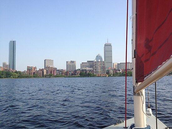 Sailing in Boston by Arthur Sturdevant