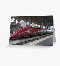 Thalys Unit 4322 at Gare Du Nord station in Paris France Greeting Card