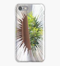 Silver spike circle iPhone Case/Skin