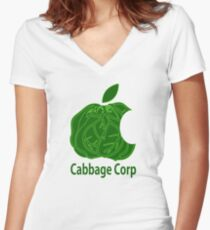 Legend of Korra Avatar Cabbage Corp Women's Fitted V-Neck T-Shirt
