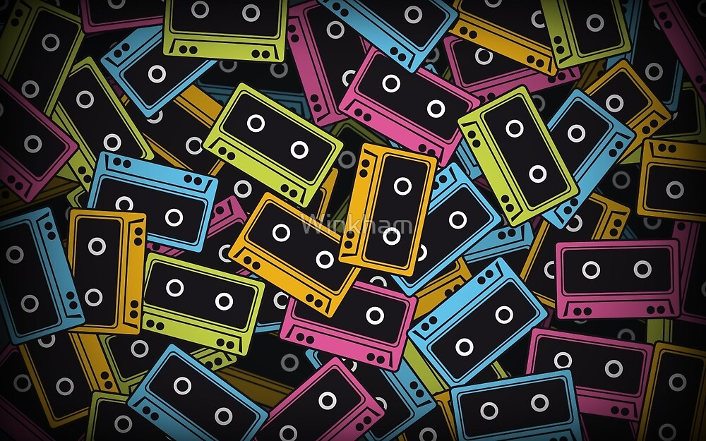 Retro Cassette Tape by Winkham