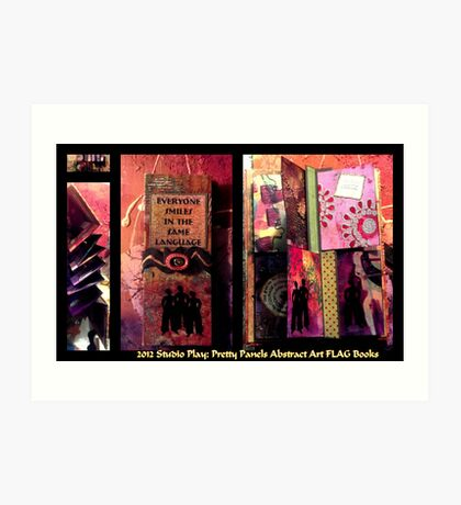 2012 Studio Play - Pretty Panels Abstract Art Books Art Print