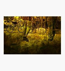 Pedestrians and Bicycles On the Move No.2 Photographic Print