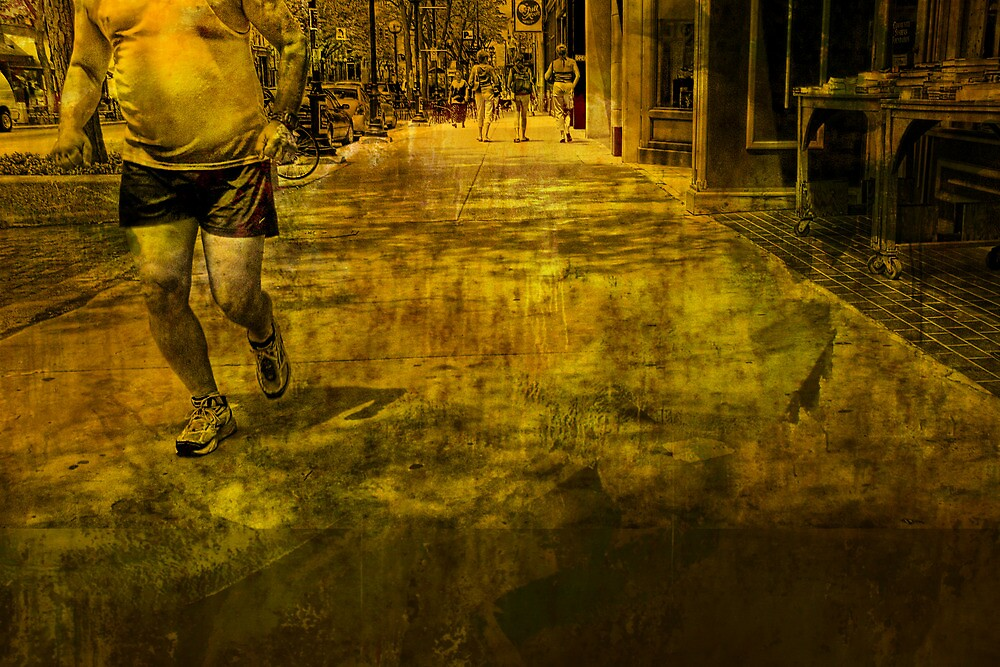 Jogger On the Move No.3 by Randall Nyhof