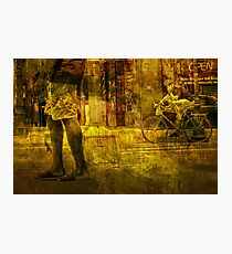 Bicyclist and Pedestrians No.9 Photographic Print
