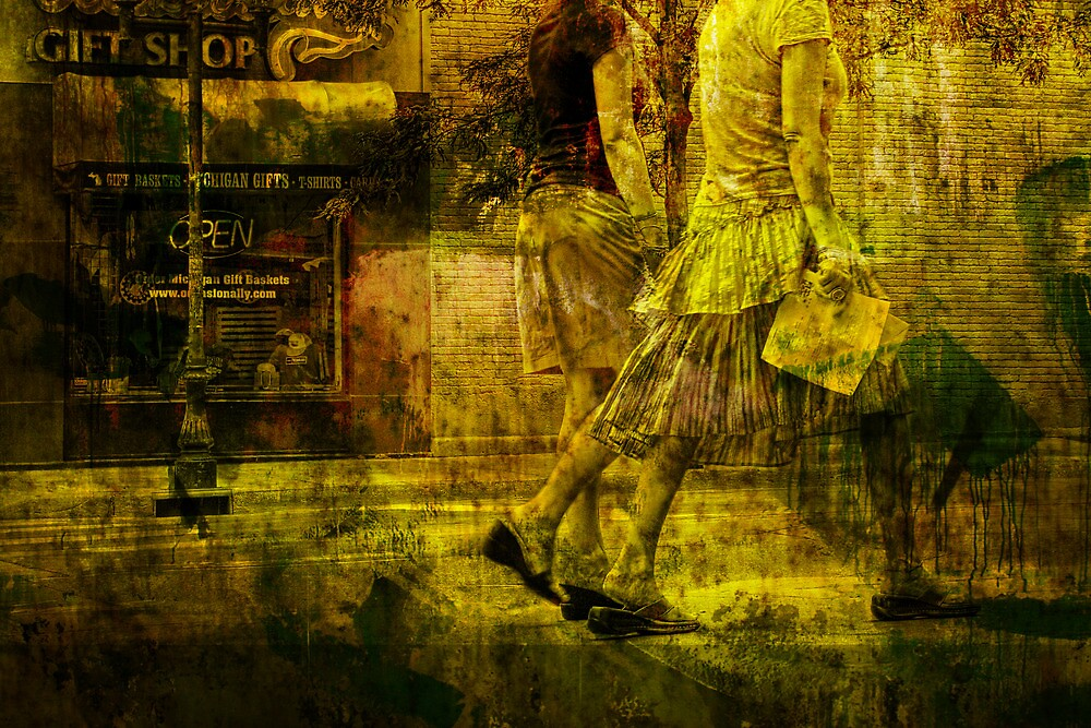 Pedestrians On the Move No.10 by Randall Nyhof