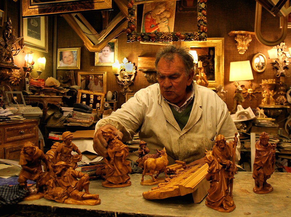 The Wood Carver by Wayne Ross
