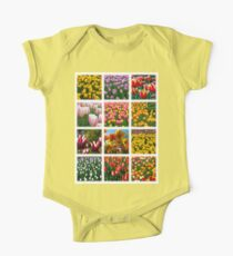 Tulips Montage 1 One Piece - Short Sleeve