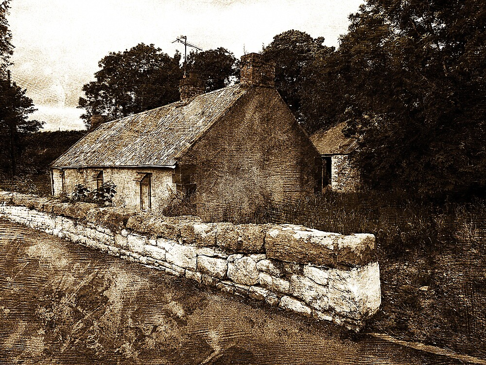 The Campbell house in Bearney, Strabane, Northern Ireland by Jeff  Wilson