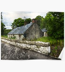 The Campbell house in Bearney, Strabane, Northern Ireland Poster