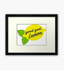 Good God, Lemon Framed Print