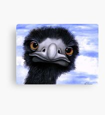 Nosy Emu (6660 viewings as at 15th June 2012) Acrylic painting Canvas Print