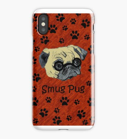 Adorable Smug Pug iPhone & iPod Cases iPhone Case