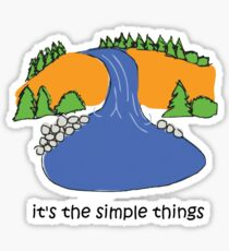 Simple Things - Waterfall Sticker