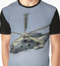 Royal Navy Merlin Helicopter Graphic T-Shirt