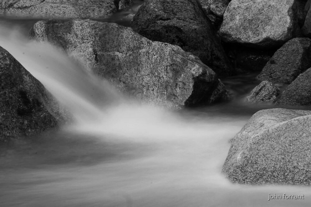 Water in Motion ( Black and white) by john forrant
