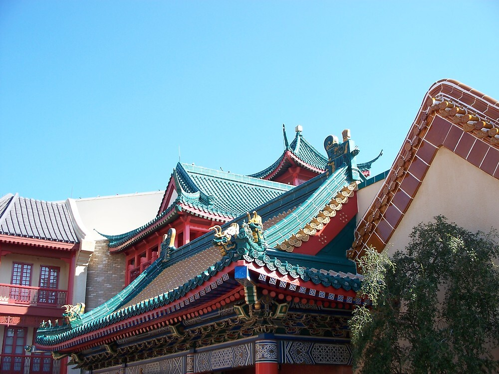 Rooftops of China: Epcot by jerryannjinnett