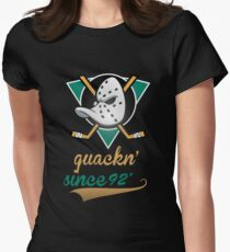 Mighty Ducks  Women's Fitted T-Shirt