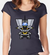 Mekkachibi Black Mazinger Women's Fitted Scoop T-Shirt