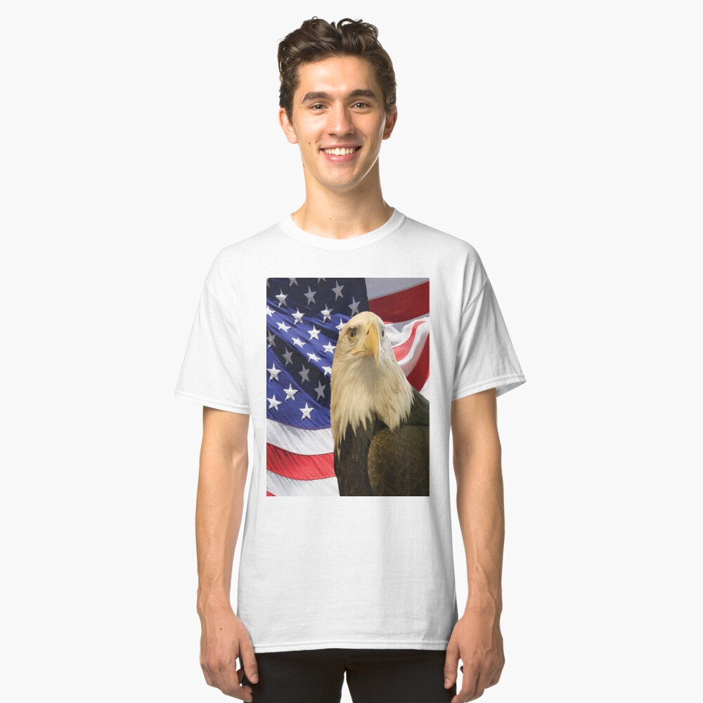 American Bald Eagle and Flag, RBSSG Classic T-Shirt