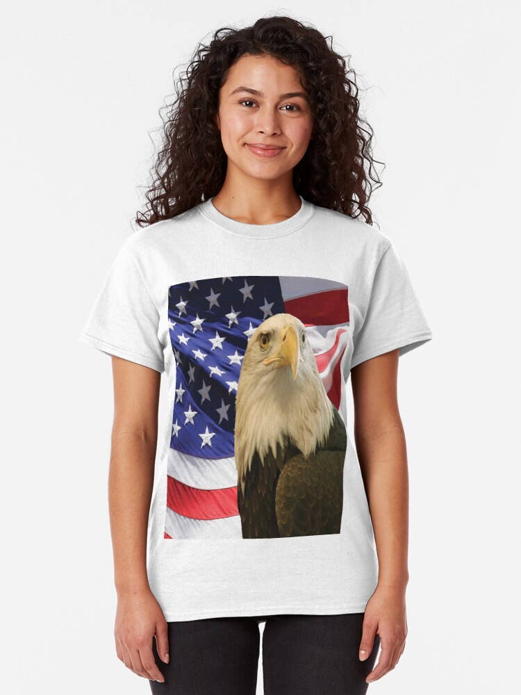 Alternate view of American Bald Eagle and Flag, RBSSG Classic T-Shirt