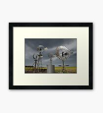 Rural Windmills Framed Print