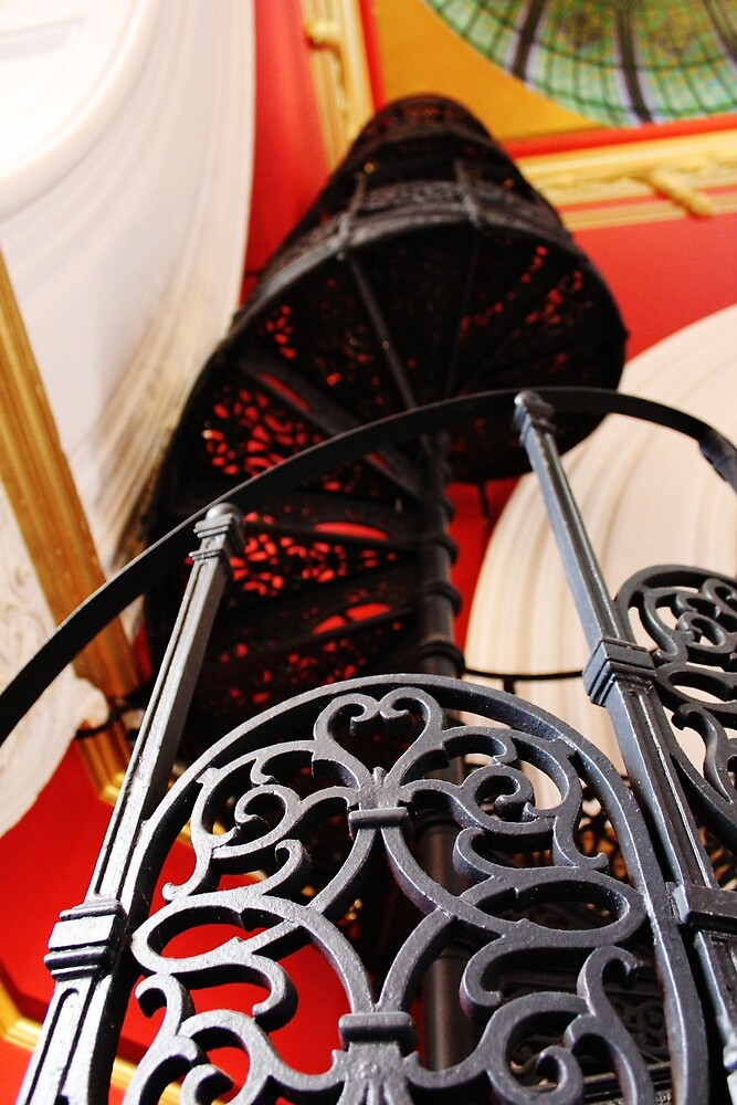 Stairway to red by Vicki Alex