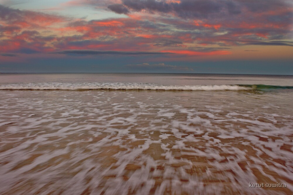 dusk at ocean grove beach by ketut suwitra