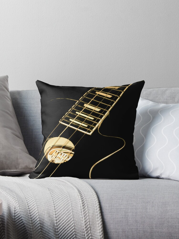 UKULELE - THROW PILLOW  by Colleen2012