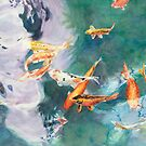 Carp in Pond II by Jenny Chang