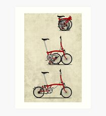 I Love My Folding Brompton Bike Art Print