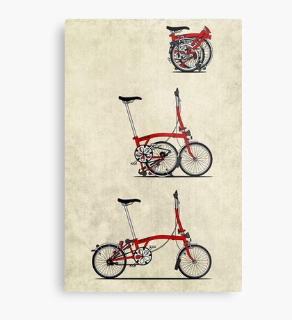I Love My Folding Brompton Bike Metal Print